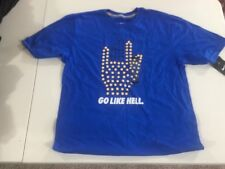 "MEN'S 2XL NIKE Running/Training T-SHIRT ""GO LIKE HELL""709877 480 NEW Blue"