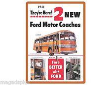 1941 Ford Transit Bus Refrigerator / Tool Box  Magnet