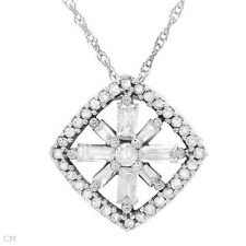 10k solid white gold 0.40 ctw Genuine diamond necklace