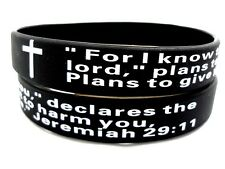 bible prayer cross wristband bracelets 100 X Christian Jeremiah Religious Lord's