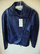 New Purple Faux Leather Stella McCartney Motorcycle Jacket Size 4 or 38 $1645+