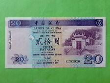 Macau Macao $20 Patacas 1-9-1996 (UNC), CZ 92926