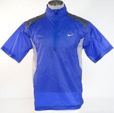 Nike Golf Slim Fit Blue & Gray Short Sleeve Wind Shirt Mens Medium M NWT