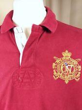 "Polo by Ralph Lauren Custom Fit Camisa Polo Rugby De Algodón-L C42-45"""