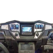 6 Piece 6 Switch Custom Dash Panel Plate Billet GPS Polaris RZR Turbo Raw Silver