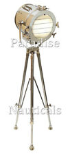 Hollywood Chrome Searchlight Theater Spotlight Floor Lamp Tripod Home Decor