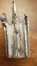 Spoontiques Hmr1518 Pewter Wizard Sorcerer Figurine Rhinestones Crystal Ball