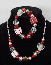 Jewelry Bling Christmas Blown Glass Packages Necklace  & Bracelet   S E19 15