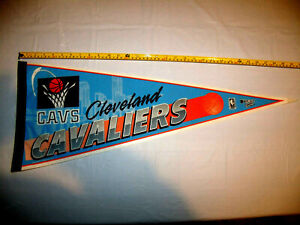 Cleveland Cavaliers Original 1990's Full Size Vintage Pennant Old Logo