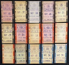 HOLLYWOOD PARK - 15 OLD CARDBOARD HORSE RACING TOTE TICKETS - 1950'S-1960'S!