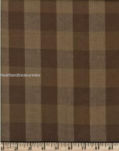 Dunroven House H-990 Homespun Fabric Large Brown ~ Wheat Checked  ~ ~ You Pick