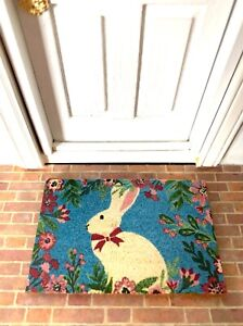 Dollhouse Miniature Easter Bunny Doormat 1:12 Scale