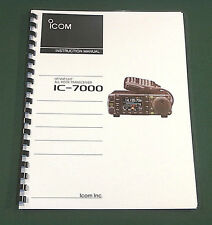 Icom IC-7000 Instruction Manual: Premium Card Stock Covers (In Color) 32lb Paper
