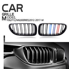 Black M-color Front Grille Grill For BMW M6 F06 F12 F13 12-17 640i 650i 6-Series