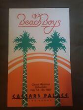 Vintage Rare Beach Boys Caesars Palace 1987 Program book Las Vegas