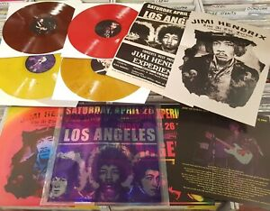 JIMI HENDRIX 4 LP COLOR LIMITED 350 COPIE  LOS ANGELES FORUM 26/4/69 2 POSTER