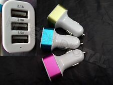CARICA BATTERIA AUTO ACCENDISIGARI 3 USB 1-2-2.1A NoKIA 3610 FOLD 3710 3711 3720