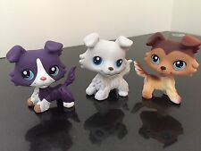 3pcs Littlest Pet Shop Collie Dogs #58 #363 #1676 3 Piece Collection USA SELLER