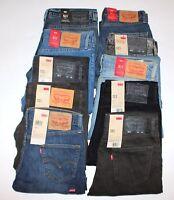 < Nuovo Inventario > Levi's 511 Uomo Jeans Aderenti W28-42in L29-36 Svendita