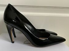 New Christian Dior D Choc Black Patent Curved Heel Pointed Toe Pumps 39 9 $790