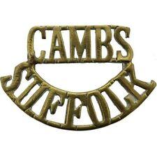 WW1 Cambridgeshire & Suffolk Regiment Reserve Battalion Shoulder Title Badge CB3