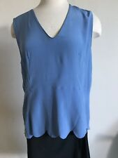 WEARABLE ART! Marni Sky Blue Silk Sleeveless Top Blouse-44-NWT-$575-Gorgeous