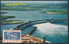 1959 #387 5c St Lawrence Seaway FDC, Long Sault Dam Post Card, St Rose PQ
