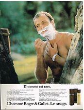 Publicité Advertising 1980 Ligne de soins pour homme Roger & gallet