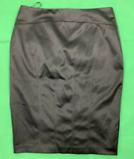 Warehouse Black Satin Pencil Skirt 10 BNWT