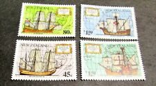NEW ZEALAND 1992,DISCOVERY OF AMERICA COMPLETE 4 VALUES, VF MINT NEVER HINGED