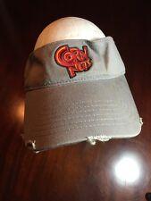 Distressed CORN NUTS Gray Adjustable Visor TL7