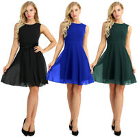 Women Summer Sleeveless Cocktail Evening Party Beach Dress Midi Short Mini Dress