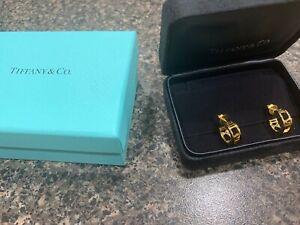 Tiffany & Co ATLAS HOOP 18K Yellow GOLD 750  Earrings New w/ BOX