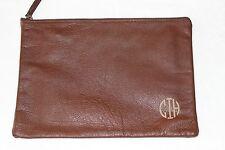 Mark & Graham  DarkBrown Everyday Soft Leather Zip ClutchPouch NWOT FreeShip CIH