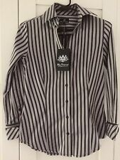 BEN SHERMAN Black Silver Striped Long Sleeved Shirt Size S BNWT