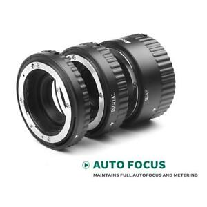 Auto Focus Macro Extension Tube Set for Nikon SLR and Nikkor AF AF-S D3300 D3200