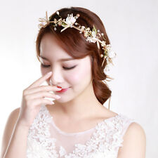 Weeding Party White Gypsophila Pink Flower Garland Hair Head Band Bride Bridal