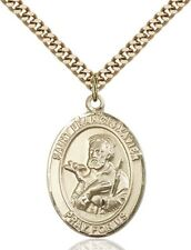 14KT Gold Filled Catholic Saint Francis Xavier Medal, 1 Inch