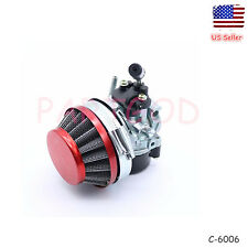 Racing Carburetor & Filter Carb For 50cc-80cc 2 stroke Motorized Bicycle Bike