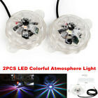 2PCS LED Colored Light Motorcycle Underglow Car Body Atmosphere Lighting Lamps