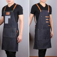 Professional Denim Cloth Hairdressing Barber Apron Cape for Barber Hairsty