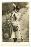 Antique RPPC postcard Miss Adrienne Augarde actress singer stage theatre music