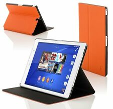 Leather Orange Smart Clam Shell Case Cover for Sony Xperia Z3 8.0 SGP611