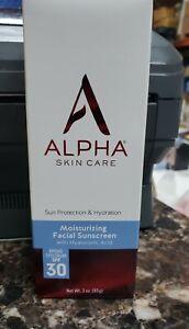 Alpha Skin Care Alpha hydrox Moisturizing Facial Sunscreen SPF 30, 3 oz. F-36