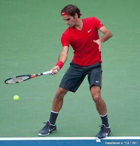 Nike Federer US Open 2011 V-Neck Shirt - Size Large