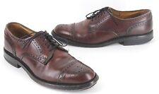 Allen Edmonds Lexington Merlot Leather Cap Toe Oxfords In US Size 9 B Narrow