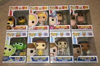 Toy Story Funko POP Lot of 8 - Buzz Mrs. Nesbit Bo Slinky Bullseye Alien Gabby -