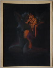 Rare Vintage 40s Art Deco Pin-Up Print Zoë Mozert Nude Blonde is Beauty By Night