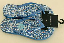 NEW! TOMMY HILFIGER DOROAS BLUE WHITE FLIP-FLOPS SLIPPERS SANDALS 6 36 SALE