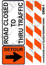 Scalelike Industries G-Road Work Signs 1 (Grw-1) Printed On Plastic Factory New
